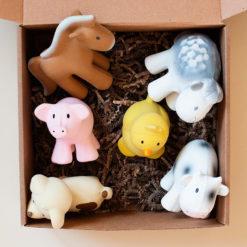 Набор игрушек из органического каучука TIKIRI для игр в воде и прорезывания зубов