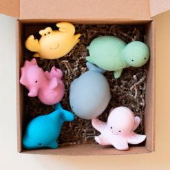 Набор игрушек-прорезывателей из органического каучука TIKIRI для игр в воде